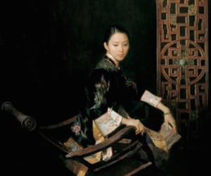 book, qipao, and fashion image