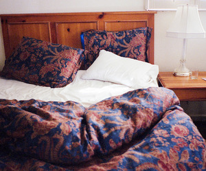 bed, blankets, and bedroom image