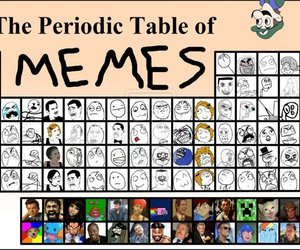 periodic table of memes image