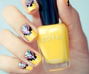 nails, yellow, and nail art image