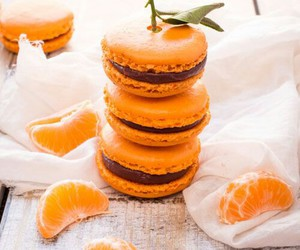 food, chocolate, and clementine image