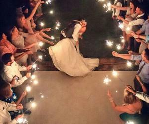 wedding, love, and light image