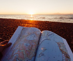 map, travel, and beach image
