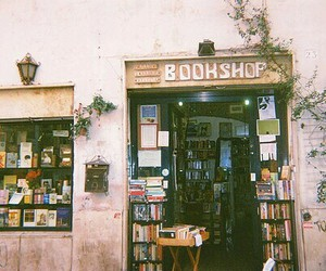 book, bookshop, and vintage image
