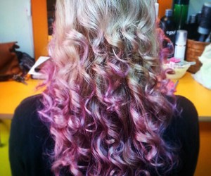 blonde, color, and curl image