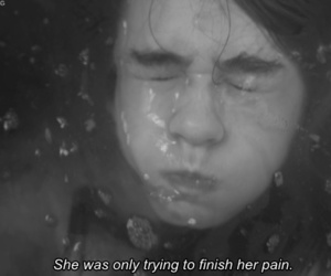 pain, girl, and text image