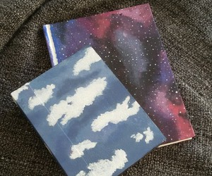 clouds, creative, and galaxy image