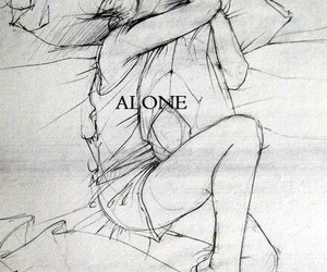 alone, art, and drawing image