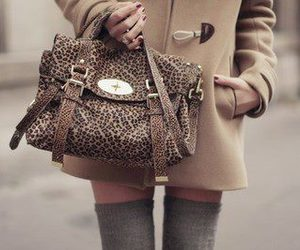 fashion, bag, and leopard image