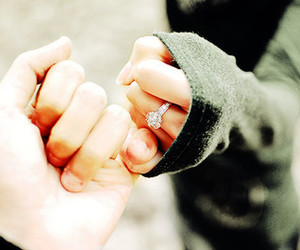 love, promise, and ring image