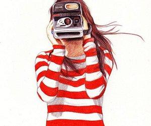 girl, camera, and draw image