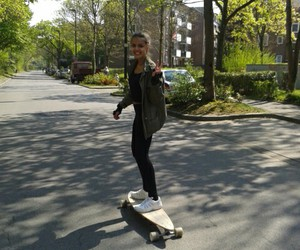 longboard, peace, and skate image