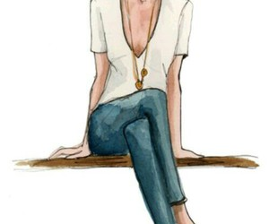 beauty, sketch, and fashion image