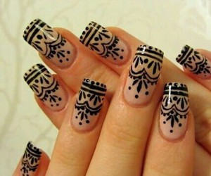amazing, girl, and nail art image