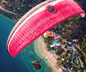 summer, beach, and parachute image