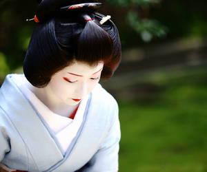 garden, make up, and geisha image