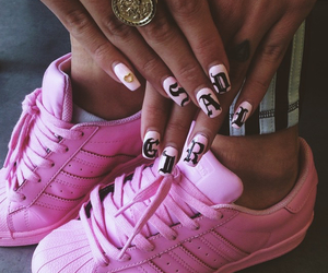 adidas, pink, and dope image