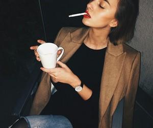 fashion, girl, and cigarette image