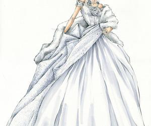 dress, drawing, and fashion image