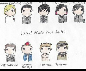 30 seconds to mars, jared leto, and hair image