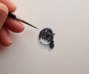cat, art, and cute image