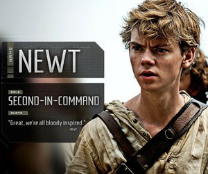 newt, the maze runner, and thomas brodie sangster image
