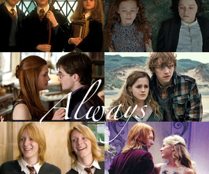 harry potter, hermione granger, and severus snape image