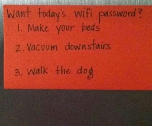 wifi, chores, and funny image