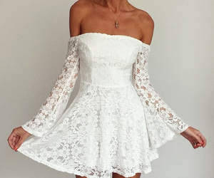 white, fashion, and dress image