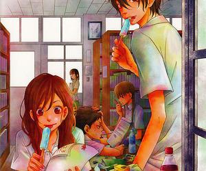 anime, tonari no kaibutsu-kun, and anime girl image