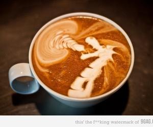 coffee, dragon, and art image