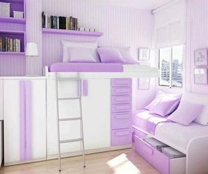 purple, bedroom, and room image