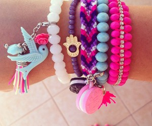 bracelet, accessories, and pink image