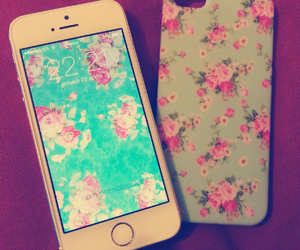 flowers, iphone, and beautiful image