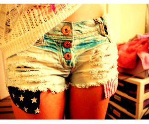 shorts, short, and usa image