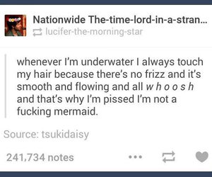 hair, mermaid, and tumblr image