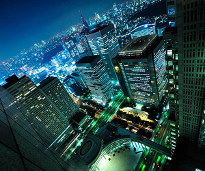 city, lights, and photography image