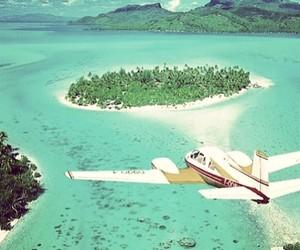 airplane, nature, and sea image