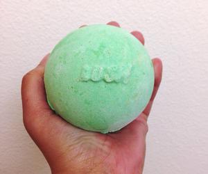 green, lush, and bath bomb image
