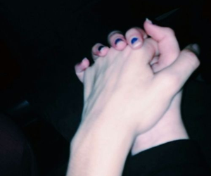 grunge, couple, and hands image