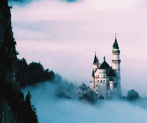 castle, clouds, and germany image