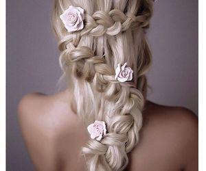 beautiful, braided hair, and beautiful hair image