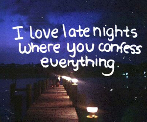 love, night, and quote image