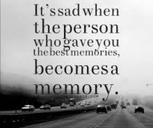 memories, sad, and quote image