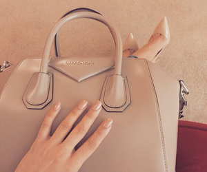 bag, nails, and beige image
