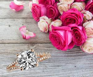amour, chic, and engagement rings image
