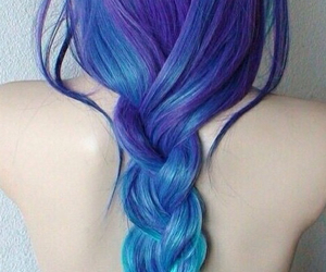 blue, hair style, and pale image