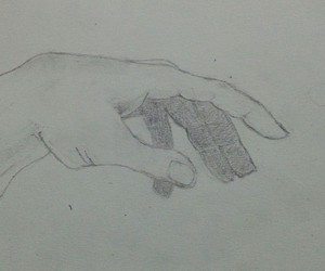 drawing, hands, and pencil image
