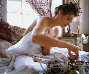 bed, breakfast, and girl image