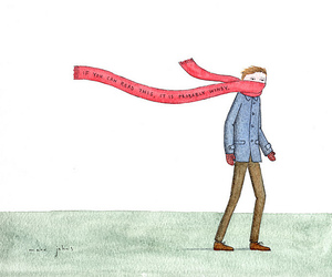 drawing, scarf, and marc johns image